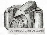 Dibujo a lápiz de una cámara de fotos para ilustrar un post de famosos