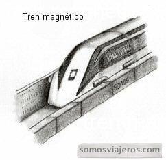 dibujo a lápiz del tren bala japonés realizado en un viaje a japón