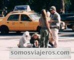 Foto de las hermanas Olsen en un rodaje en Nueva York