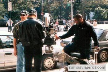 Foto realizada detrás del director en un rodaje en Nueva York