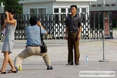 Escuela china de fotografía. Postura extraña