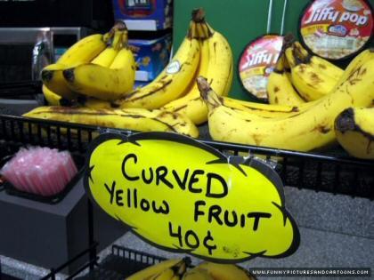 fruta amarilla curvada