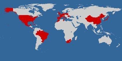 mapa mundo visitado