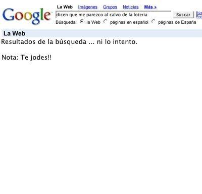 Calvo lotería y google