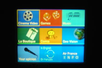 menú pantalla táctil boeing 777