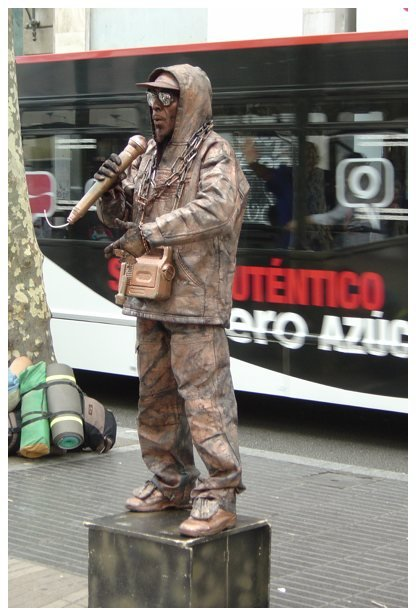 Estatua humana en Barcelona