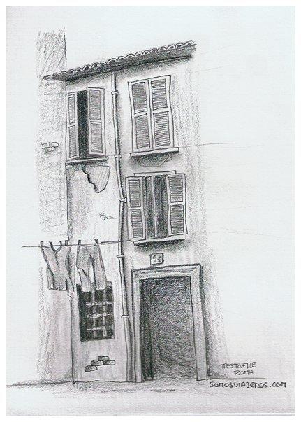 Casas en Trastevere en Roma