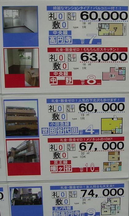 precios de pisos de alquiler en Tokyo