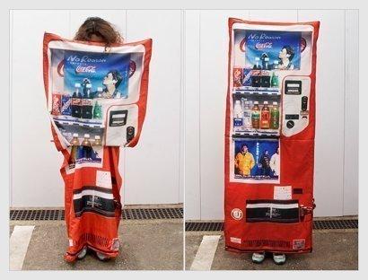 disfraz de máquina de refrescos