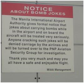Con las bombas, ni bromear