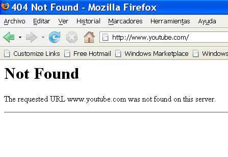 youtube bloqueado en túnez