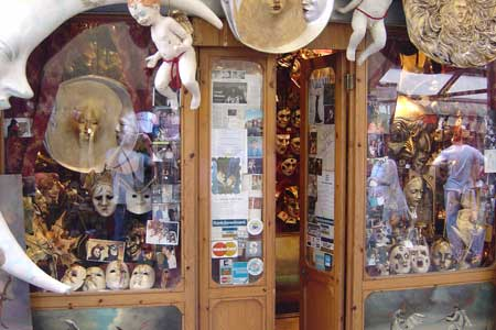 Tienda de máscaras de venecia