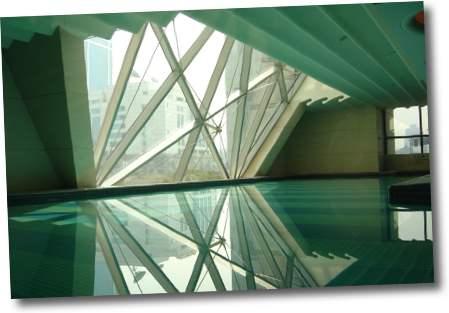 piscina del hotel wentin shanghai