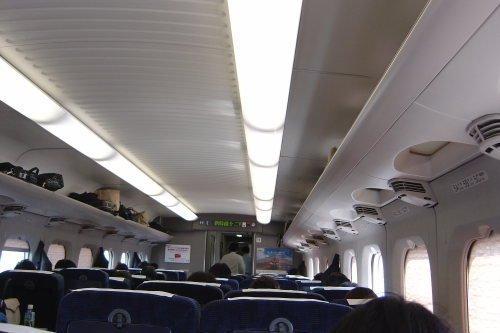 Vista interior tren Shinkansen Japonés