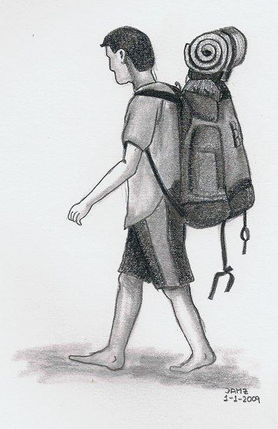 Dibujo de un viajero