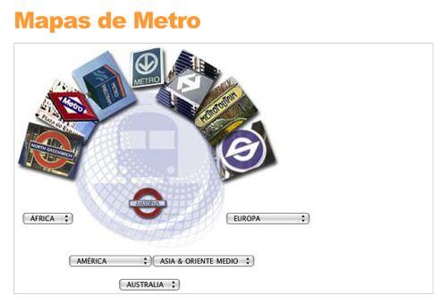Mapas de metro de ciudades del mundo