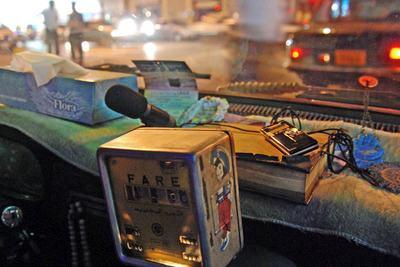 contador de tarifa de taxi en El Cairo