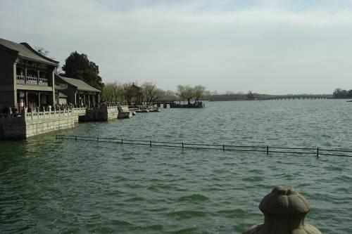 vista lago palacio de verano de pekín