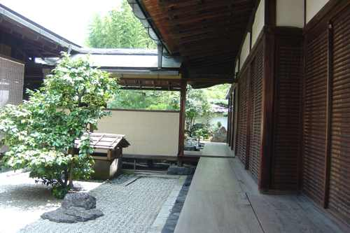 Interior templo zen
