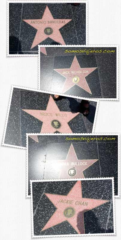 Paseo de la fama en Hollywood