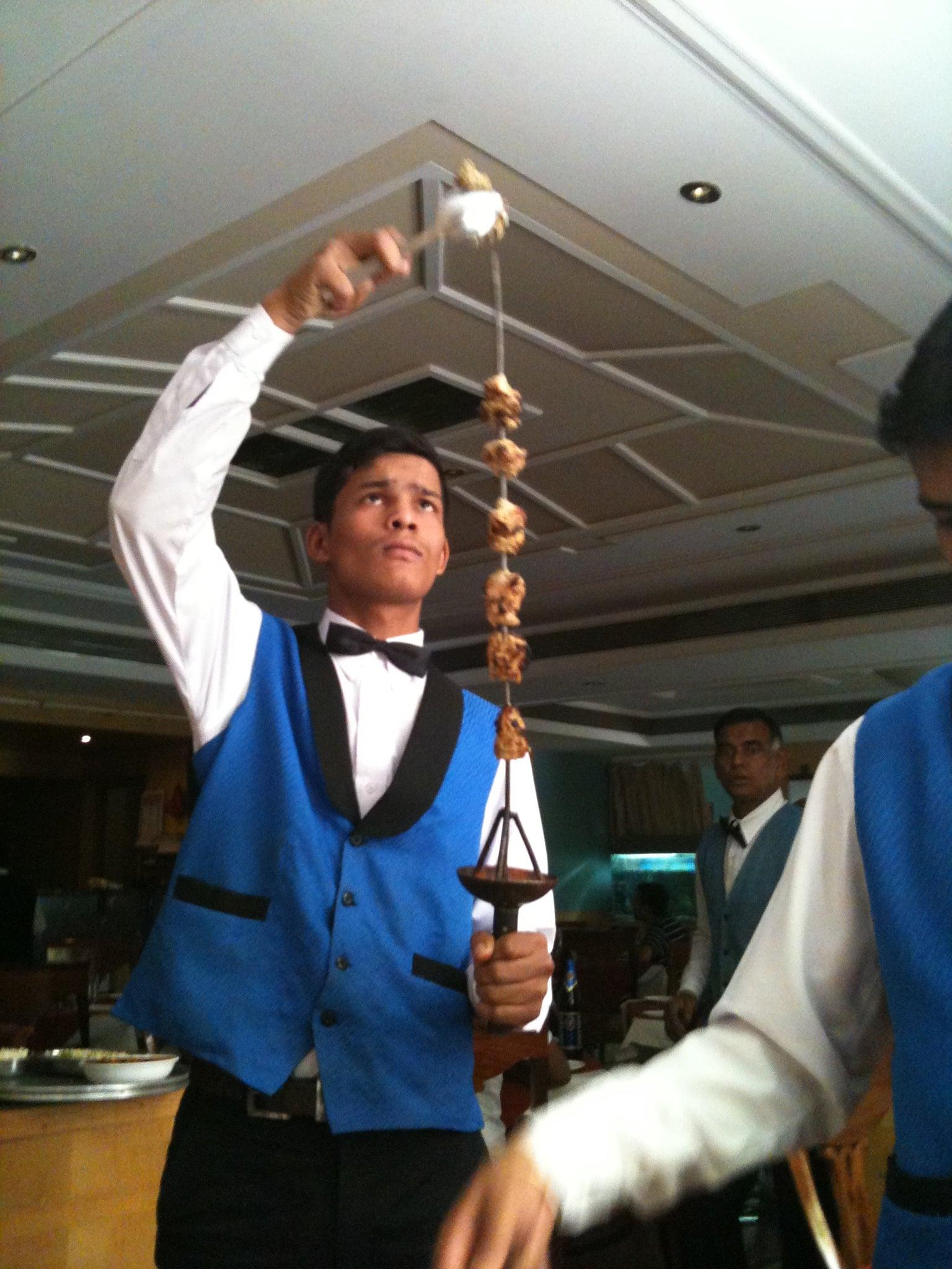 Comiendo en la India