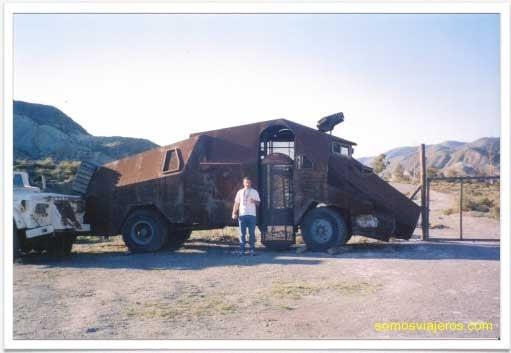 Cuando Mel Gibson perdió un coche en Almeria