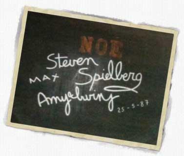 Firma Steven Spielberg en bodega Gonzalez Byass de Jerez