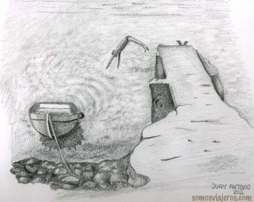 Dibujo de una playa