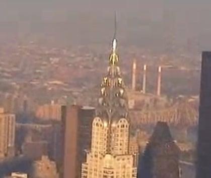 Vista desde el empire state building del edificio chrysler en Nueva York