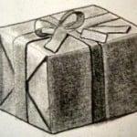 Dibujo a lápiz de un regalo