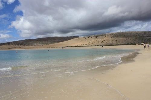 dunas en la playa de sotavento