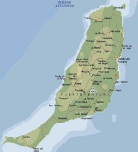 Mapa de la isla de Fuerteventura