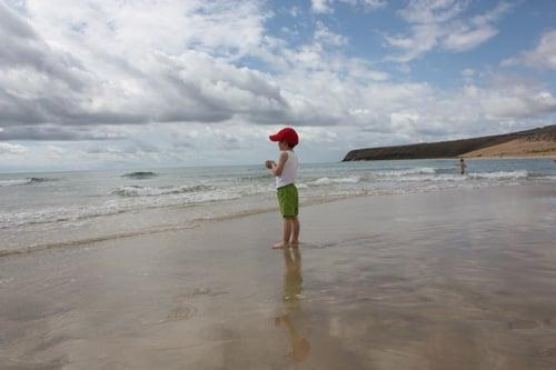 playa sotavento con niños
