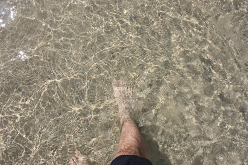 Playa cristalina de sotavento