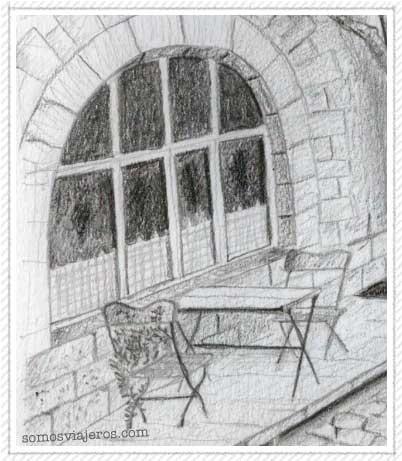 Dibujo de una terraza en Durbuy