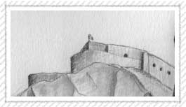 dibujo castillo dinant