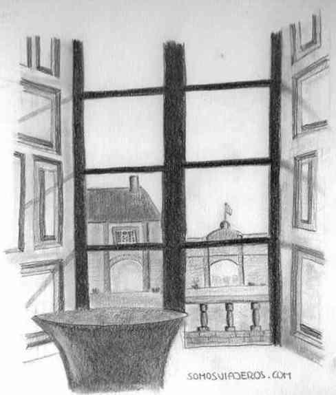 Dibujo hotel Chateau Modave