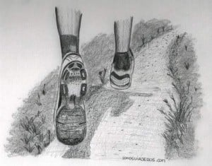 dibujo hombre corriendo running