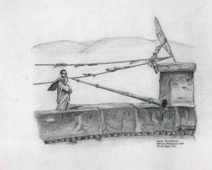 Dibujo titulado Entre Tibet y Nepal