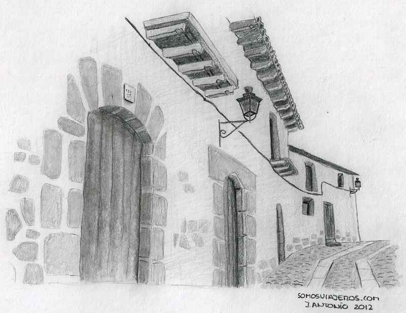 Valderrobres. Dibujo visita a la comarca del Matarraña turolense