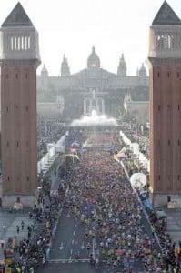 Salida maratón de Barcelona
