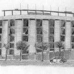 Dibujo a lápiz estadio Camp Nou FC Barcelona
