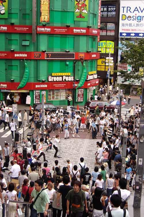 Concierto urbano en japón