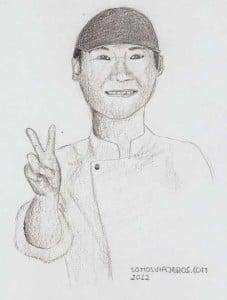 dibujo japonés saludando