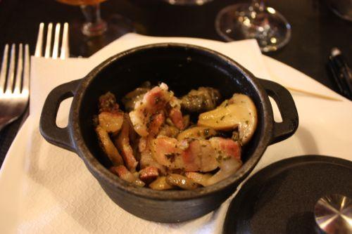 Primer plato restaurante Maxime La Roche