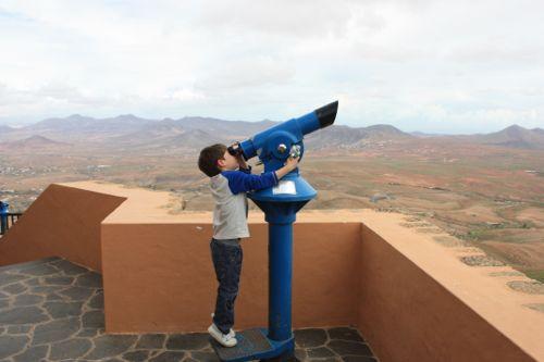 Pau en el telescopio