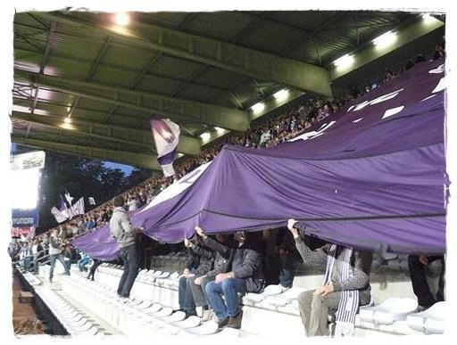 Un partido de fútbol en Bélgica