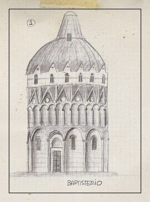 Baptisterio en pisa