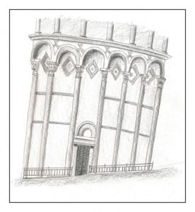 dibujo torre pisa
