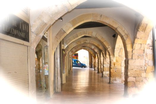 Arcos en edificios cercanos a la catedral